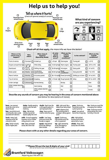 Brantford VW Repair Report web pic