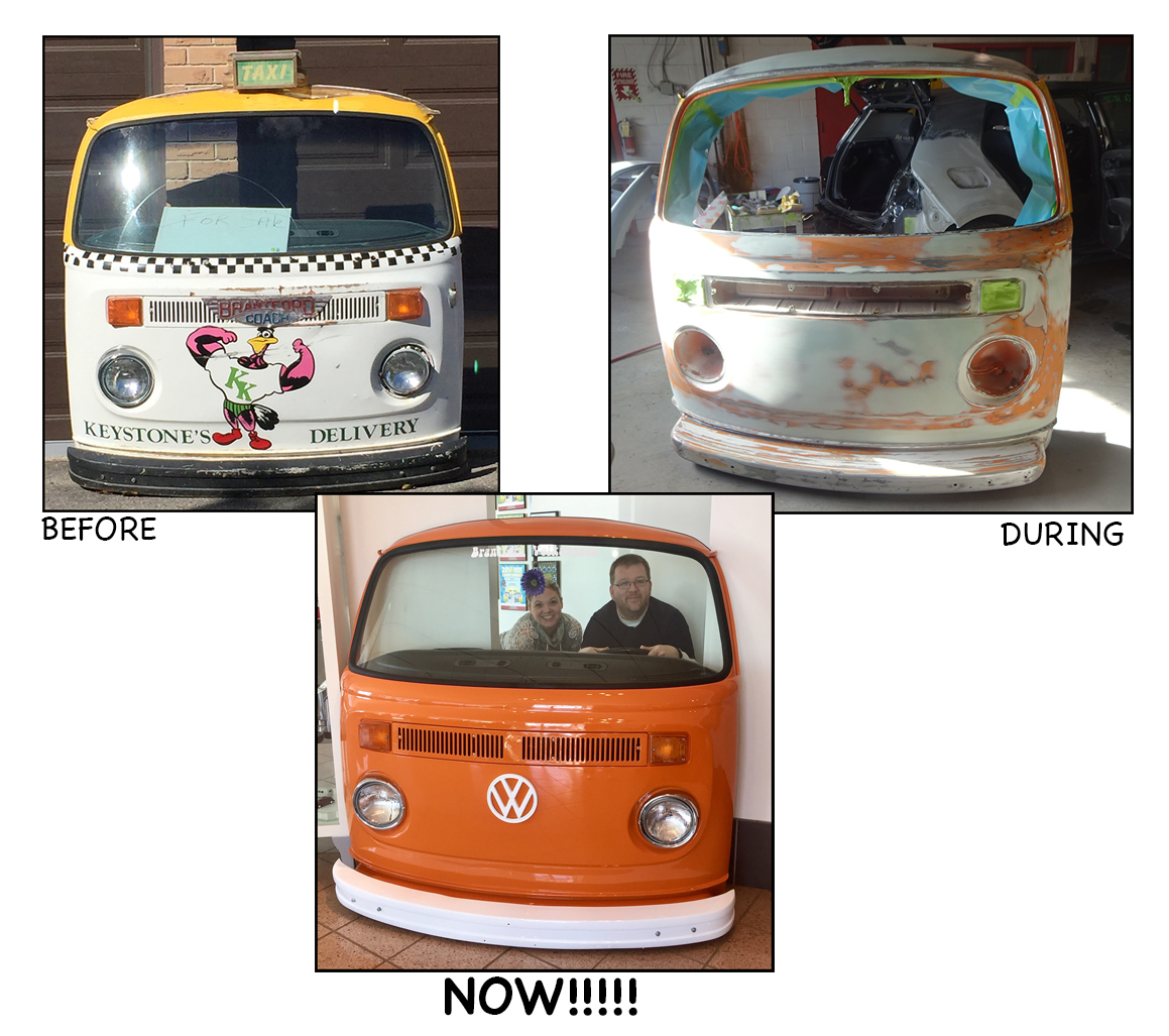 VW Bus front display
