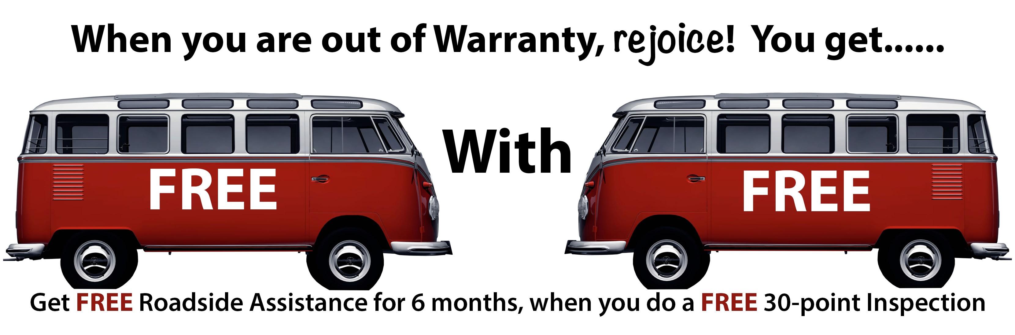 free volkswagen roadside assistance for you