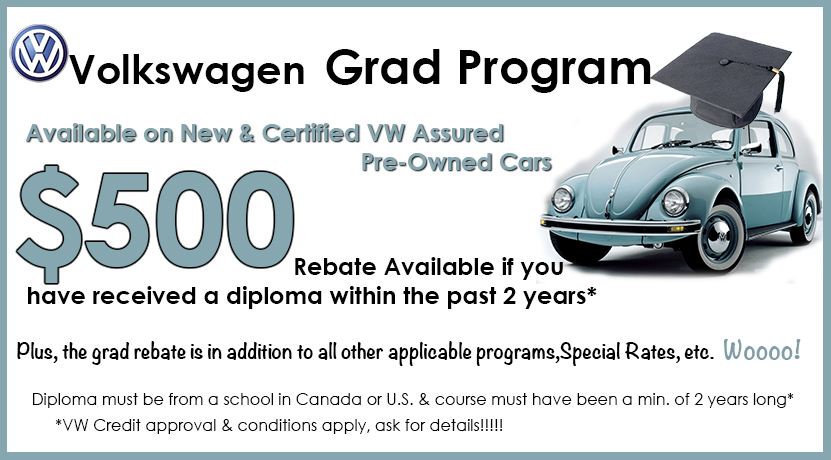 Brantford Volkswagen Graduate Rebate Program