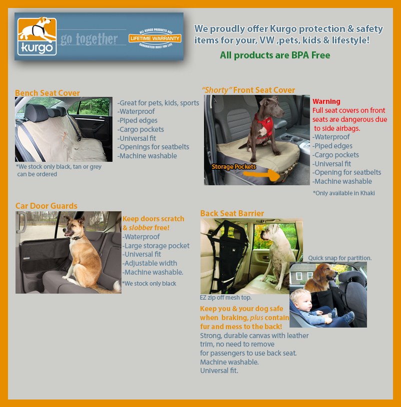 Kurgo dog travel products at Brantford Volkswagen