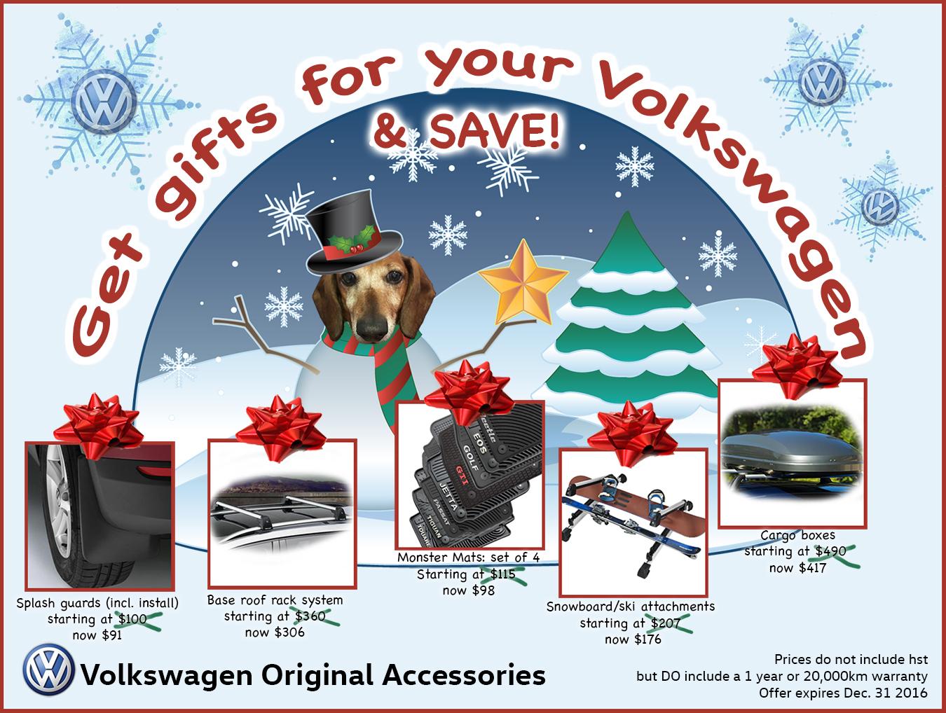 volkswagen Winter accessory deals