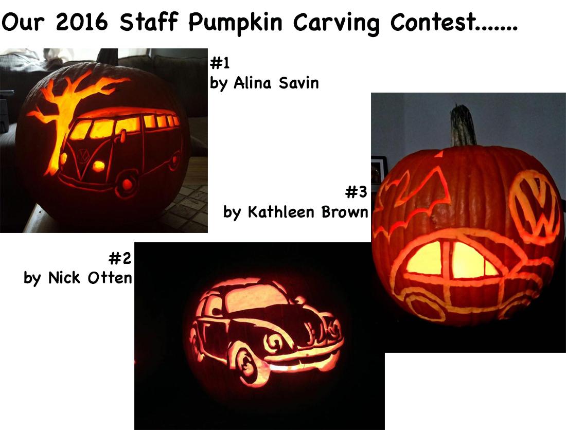 Volkswagen pumpkin carving contest 16