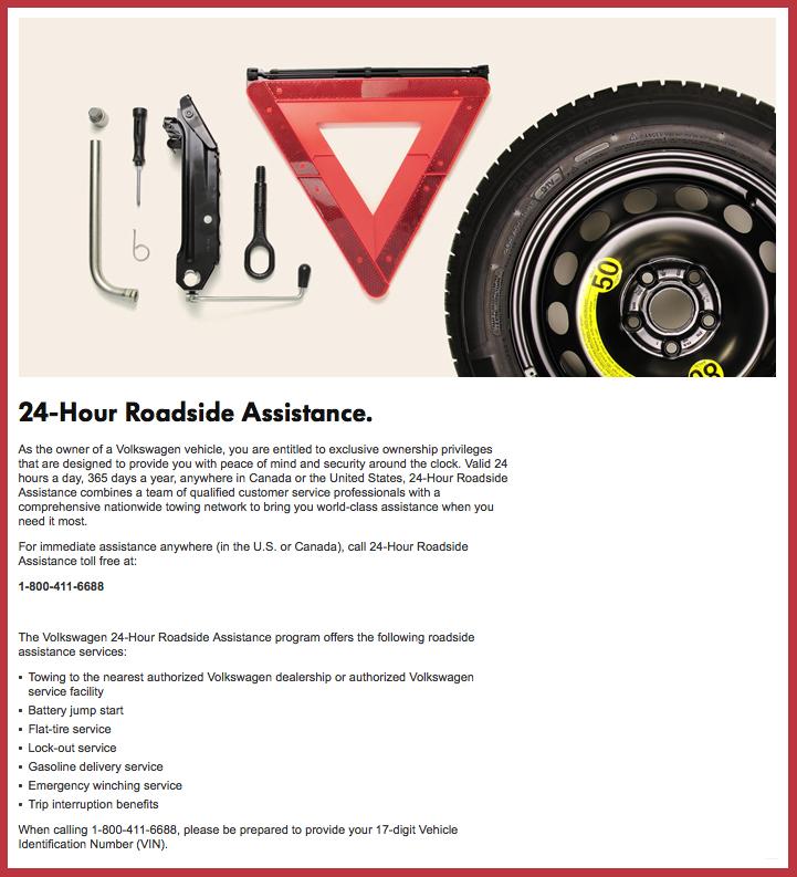 free volkswagen roadside assistance details brantford volkswagen