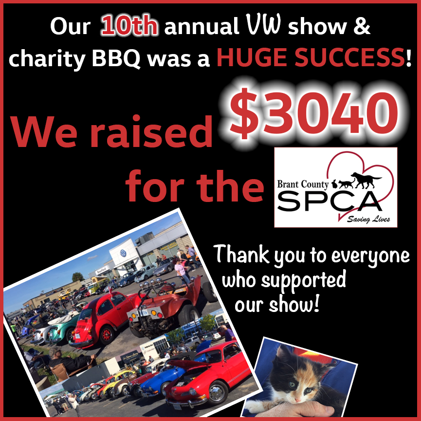 10th Annual Classic VW Charity Show Brant SPCA