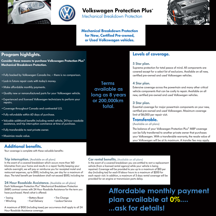 Volkswagen protection plus mechanical breakdown protection