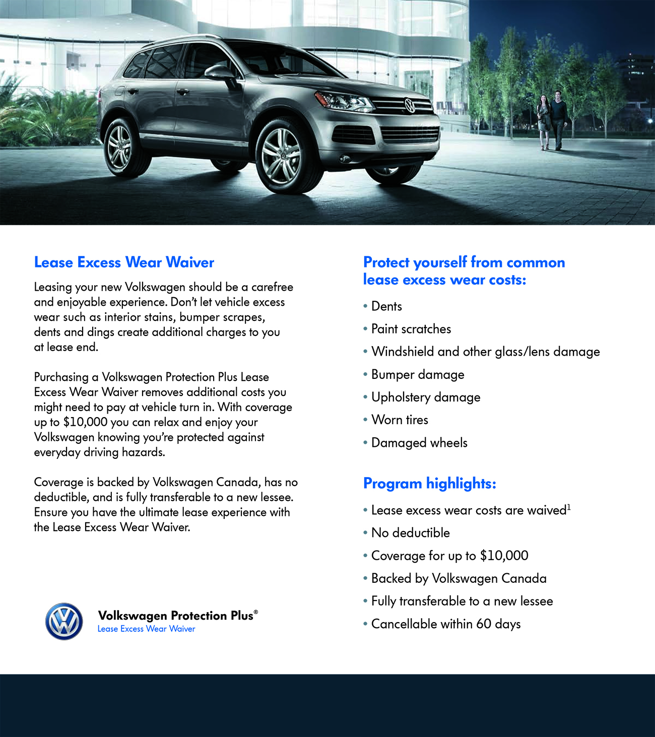 Volkswagen Protection Plus Lease Excess Wear Waiver
