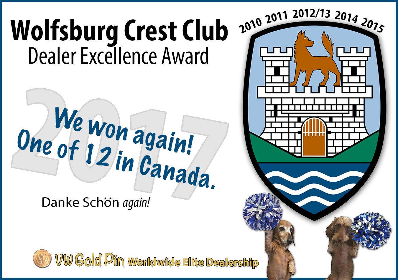 Wolfsburg Crest Club Award 2017
