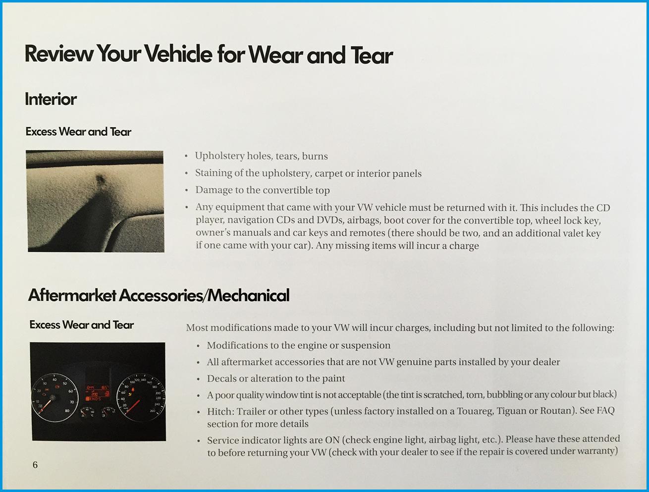 volkswagen wear and tear guidelines Brantford