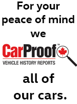 Brantford Volkswagen provides a CarProof on every pre-owned car.