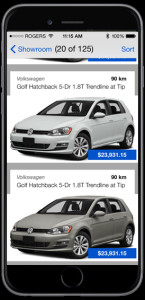 real time inventory showroom brantford vw dealer app