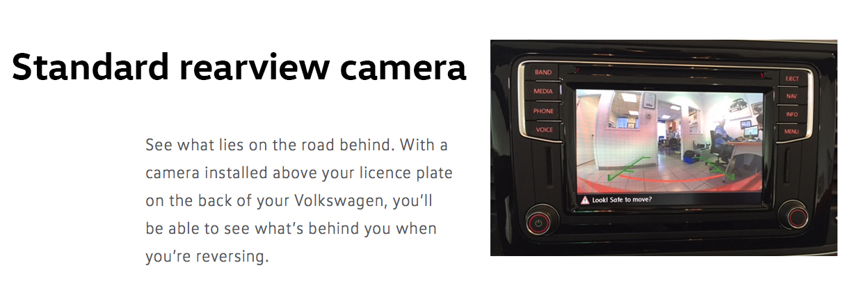 2016 beetle rearview camera