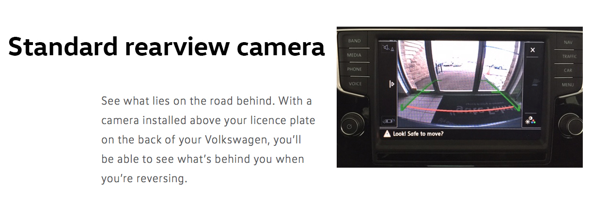 2016 Jetta rearview camera