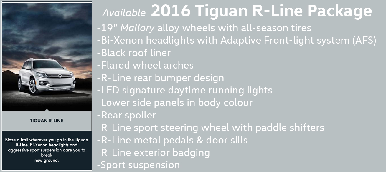 2016 Tiguan R Line package