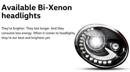 2016 Beetle Bi-Xenon lights