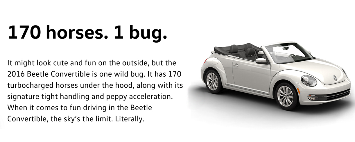 2016 beetle convertible performance