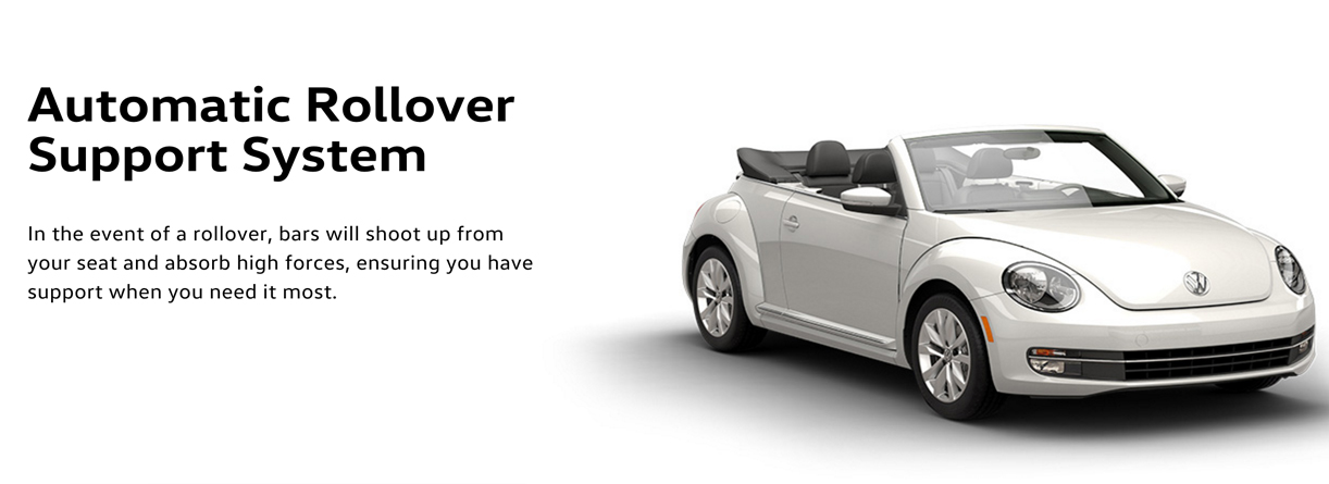 2016 Beetle convertible rollover safety