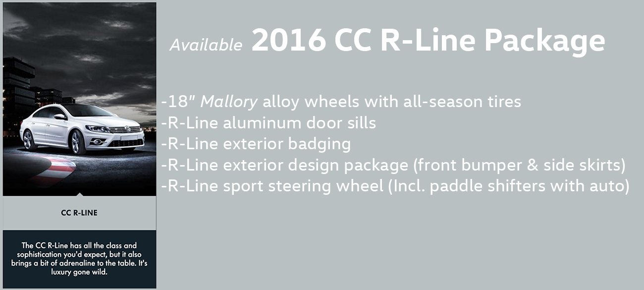 2016 CC R Line Package