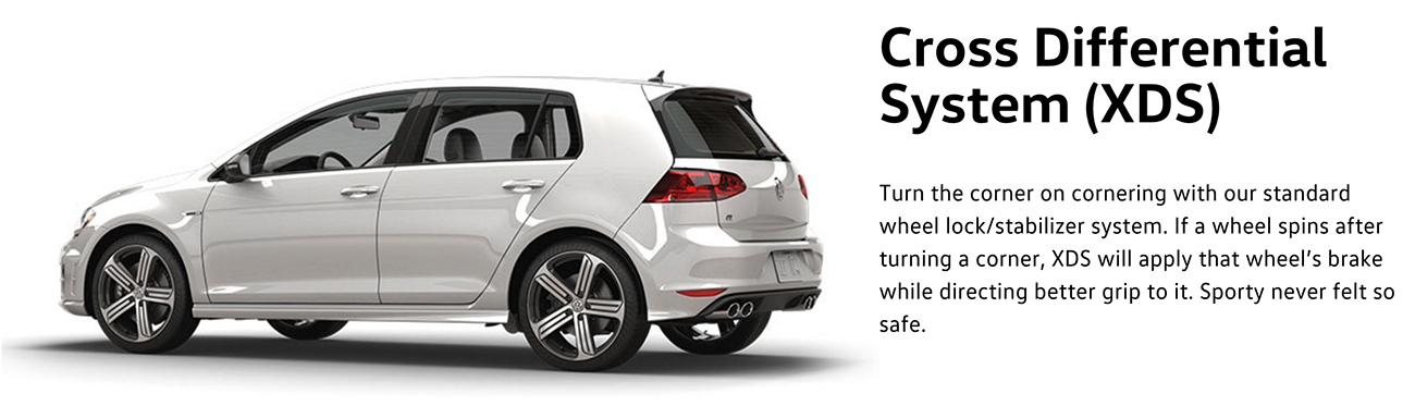 2016 Golf R cross differential system (XDS)