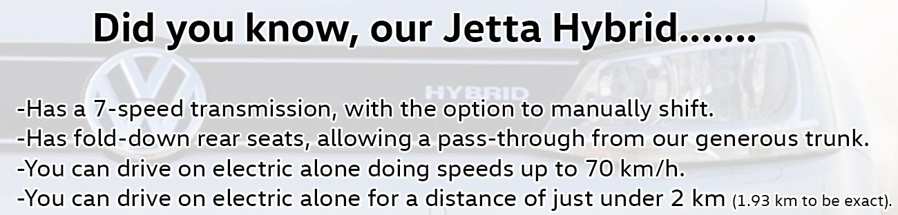 2016 Jetta Hybrid fyi