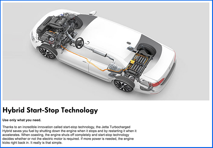 2016 Jetta Hybrid start stop technology