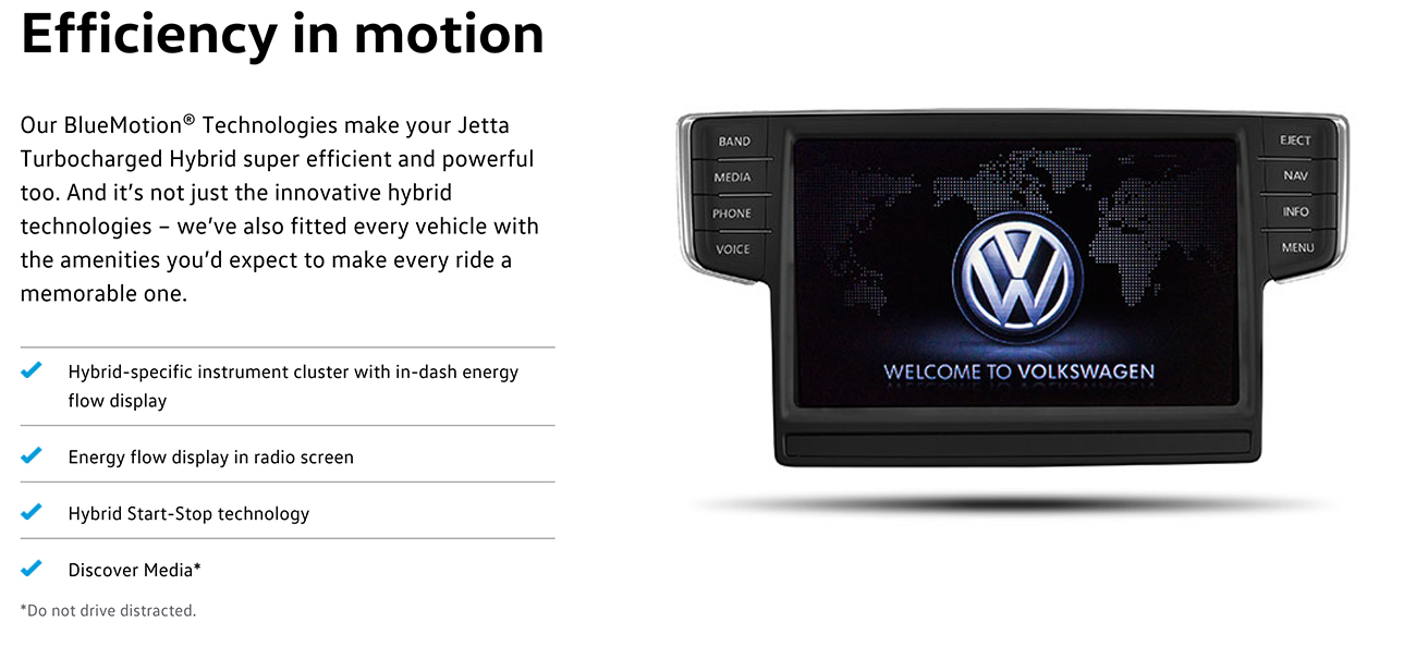 2016 Jetta Hybrid Technology