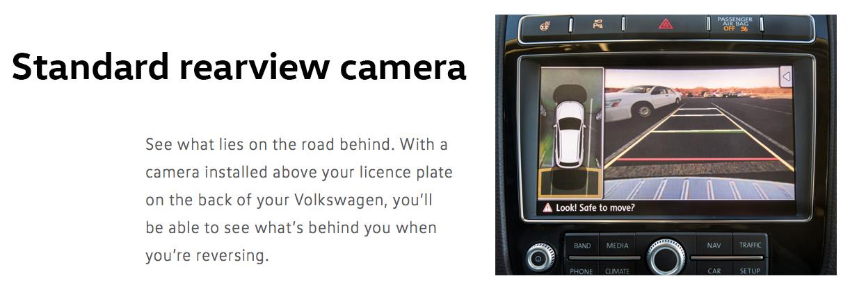2016 touareg rearview camera