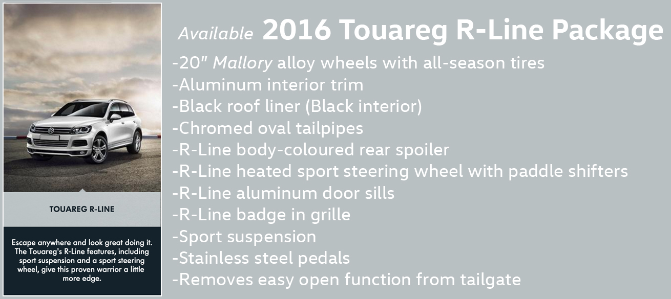 2016 Touareg R Line package