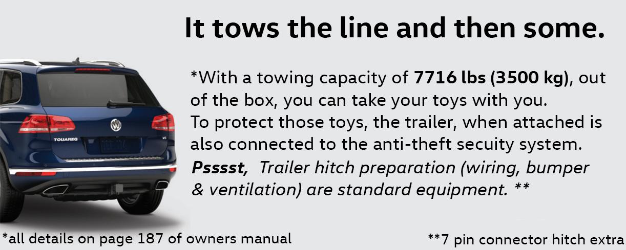 2016 Touareg towing capacity