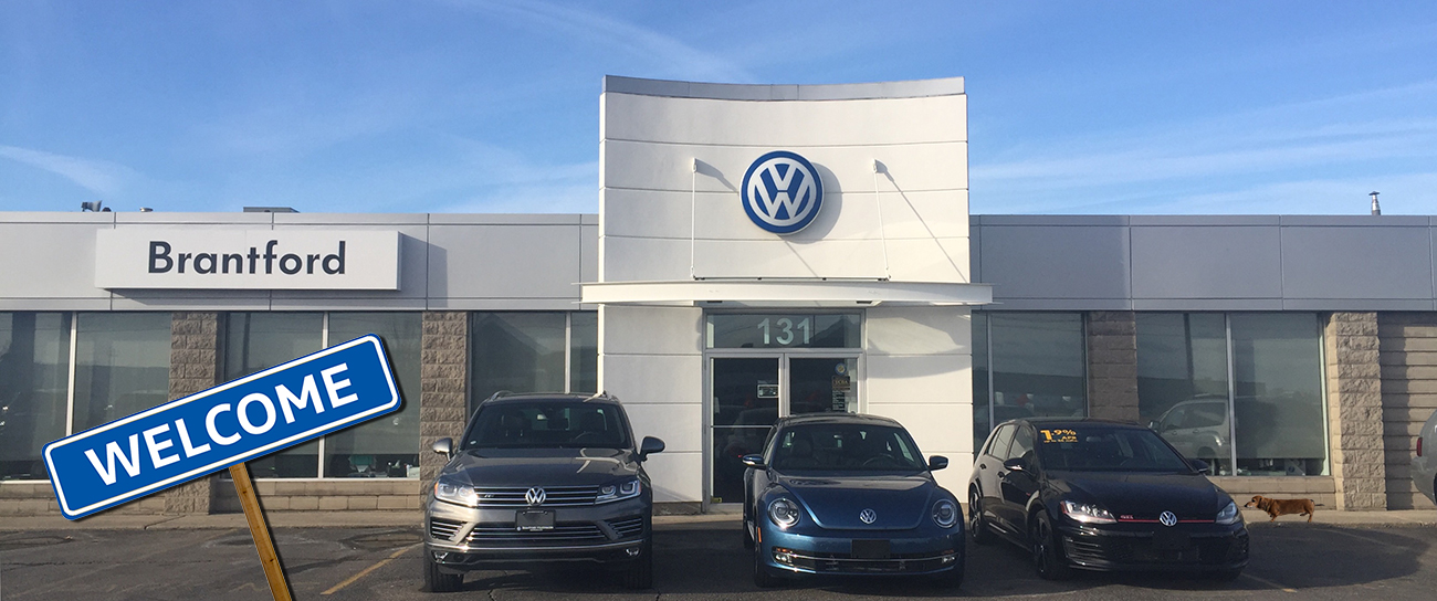 new Volkswagen vehicle showroom