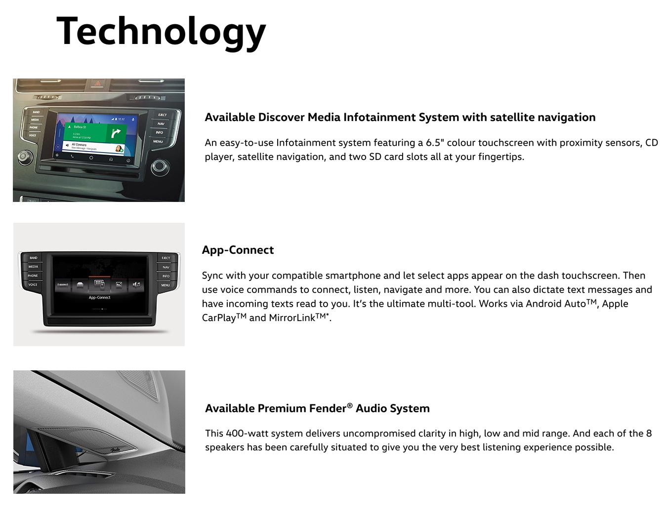 2017 golf sportwagen technology