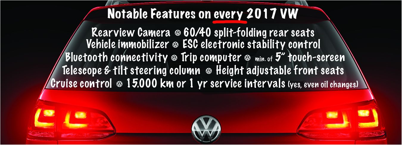 2017 Volkswagen standard features