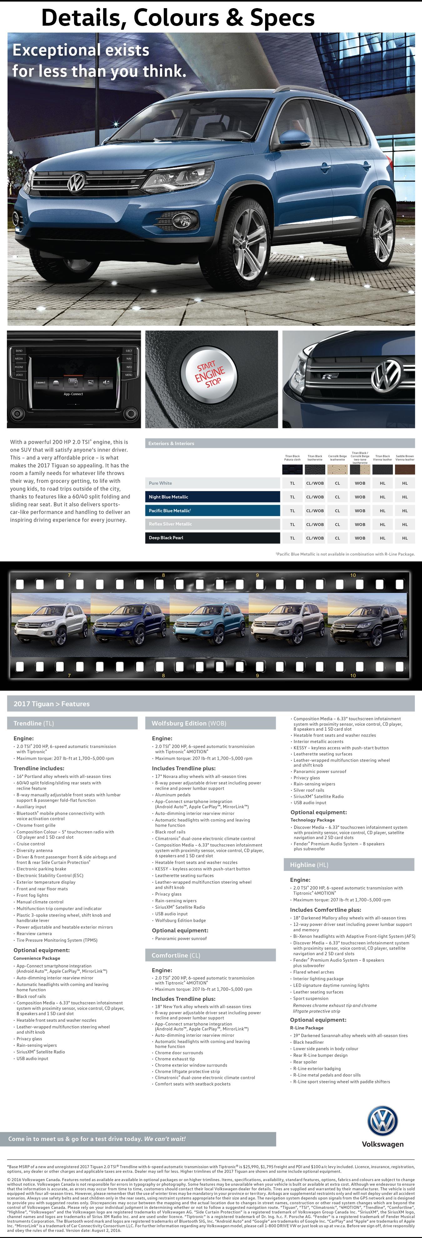 2017 Volkswagen Tiguan features and specs