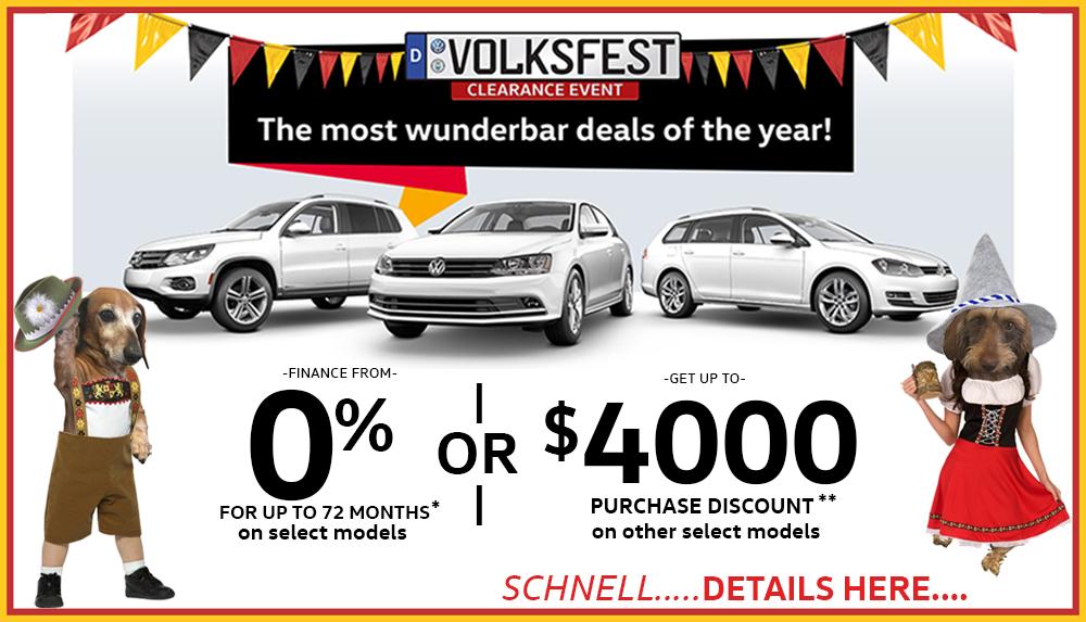 Volksfest Volkswagen sales deals
