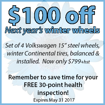 Volkswagen Winter Wheel deal