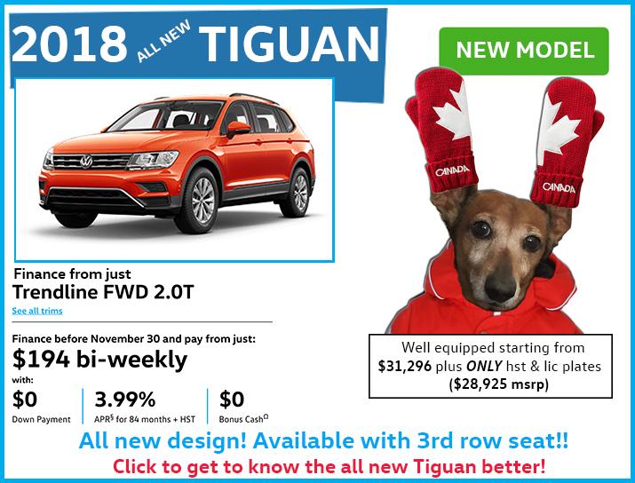 2018 new tiguan deals